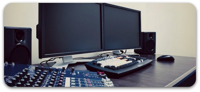 Producing music at home is made easier using a recording computer system