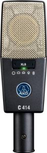 The AKG C414 condenser microphone