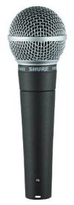 The Shure SM58 dynamic microphone