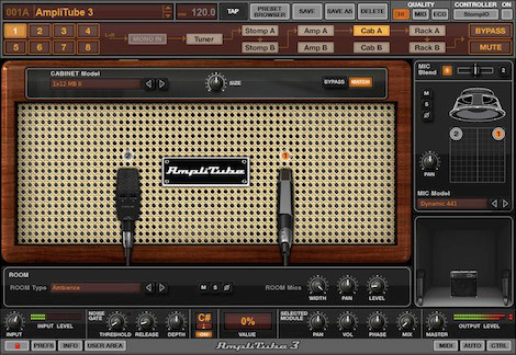 AmpliTube uses amp modeling to recreate the sounds and textures of guitar amplifiers and effects