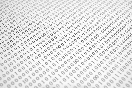 The binary number system is used to transmit and store data
