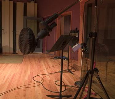 A studio's live room