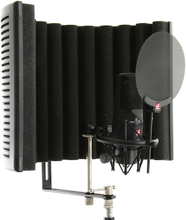 You can improve your vocal recordings dramatically when you use a pop filter and a portable vocal booth like this one