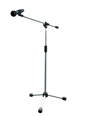A basic mic stand - the boom arm places the mic in position