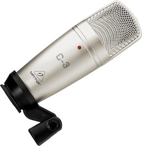 The Behringer C-3 condenser mic is a great budget option for acoustic guitar recording