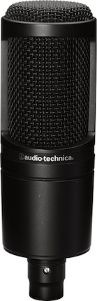 The Audio-Technica AT2020 is a great condenser mic for vocal recording