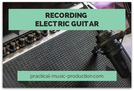 Check out this guide on how to record an electric guitar - recording through a guitar amp is one way of doing it