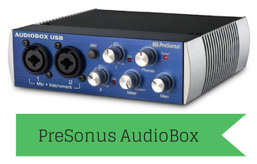 The PreSonus AudioBox USB 2x2 is a great choice for a home studio audio interface