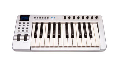 A MIDI controller keyboard can be used for many different things in the studio