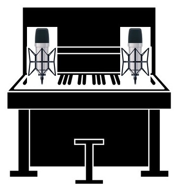 You can also remove the front panel and record an upright piano with a condenser mic either side of the pianist