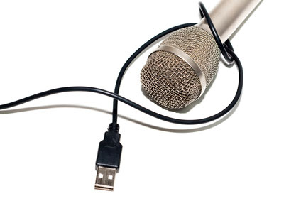 A microphone with a USB connector