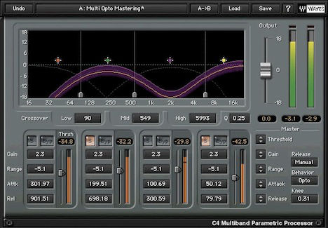 The C4 Compressor is one of the most popular plugins in the Waves range