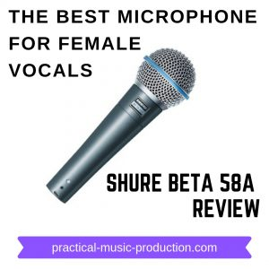 The best microphone for female vocals is the Shure Beta 58A - here's a review of this excellent mic