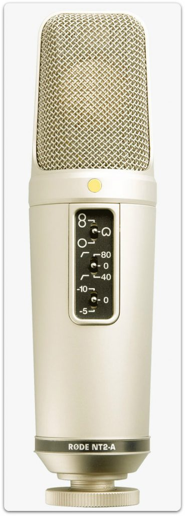 A great choice for the best condenser mic for vocals - the Rode NT2-A