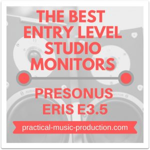 The best entry level studio monitors for your home studio are by far the PreSonus Eris E3.5