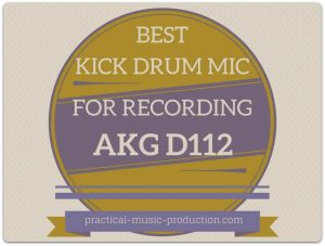 The best kick drum for recording is easily the AKG D112
