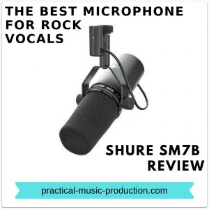The best microphone for rock vocals is the Shure SM7B dynamic mic