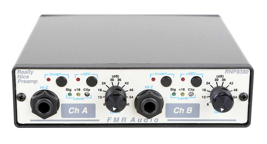 A typical outboard preamp