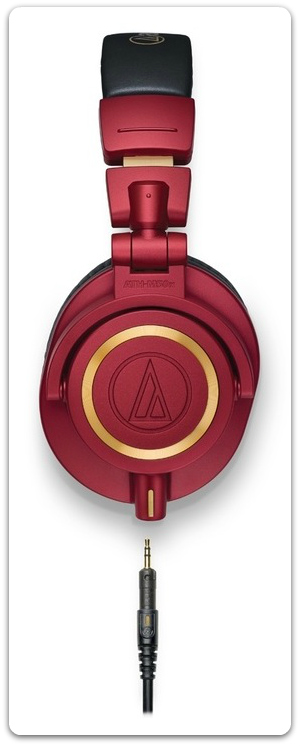 The ATH-M50x studio headphones can come in various different colours, including red